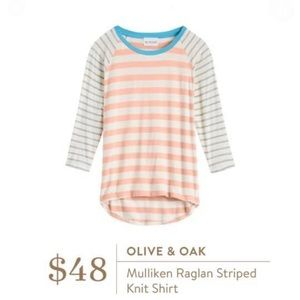 Olive & Oak Mulliken Raglan Striped Knit Shirt XL